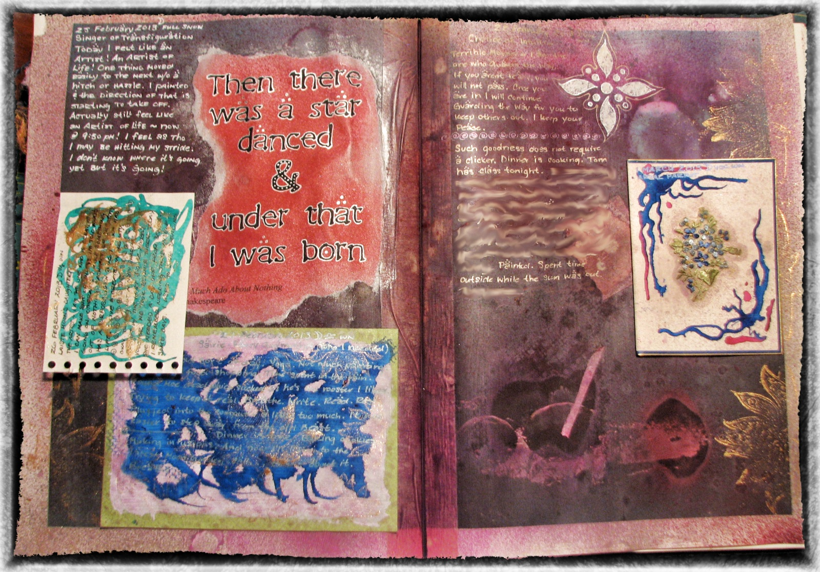 another week in an altered book